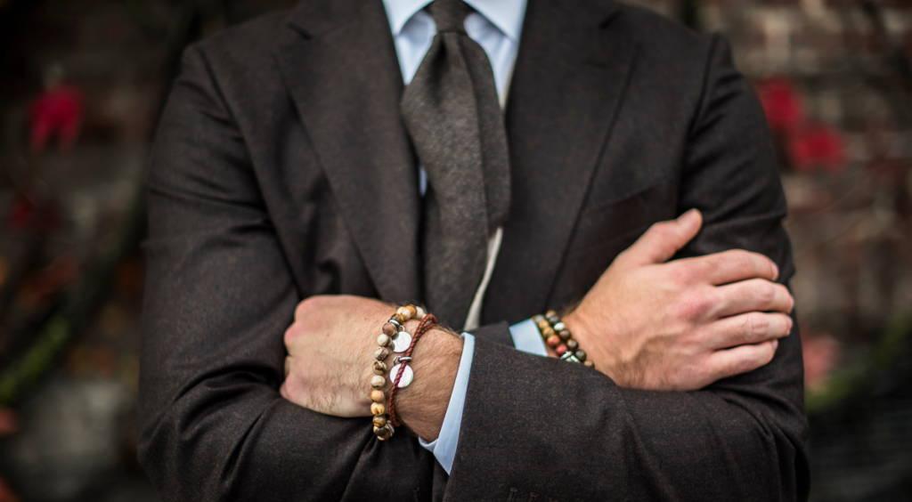 Man wearing bracelets from edd