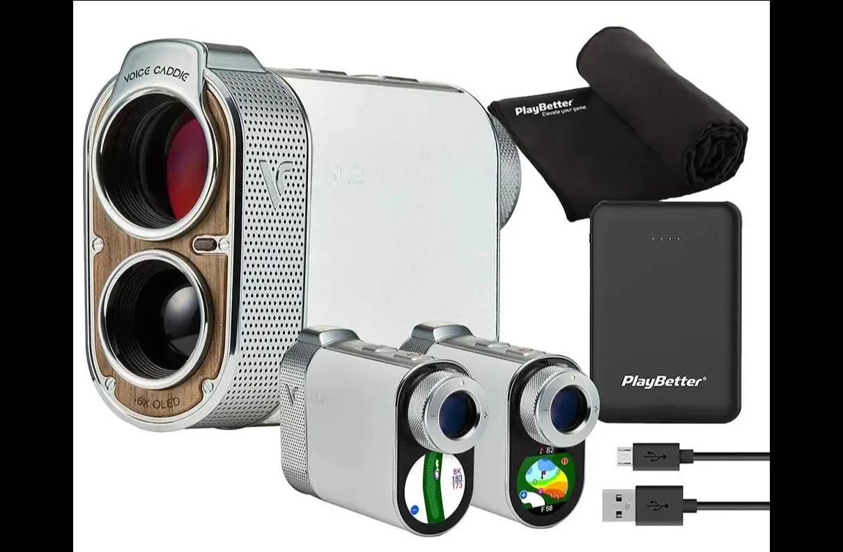 Voice Caddie SL2 active hybrid GPS laser rangefinder PlayBetter bundle