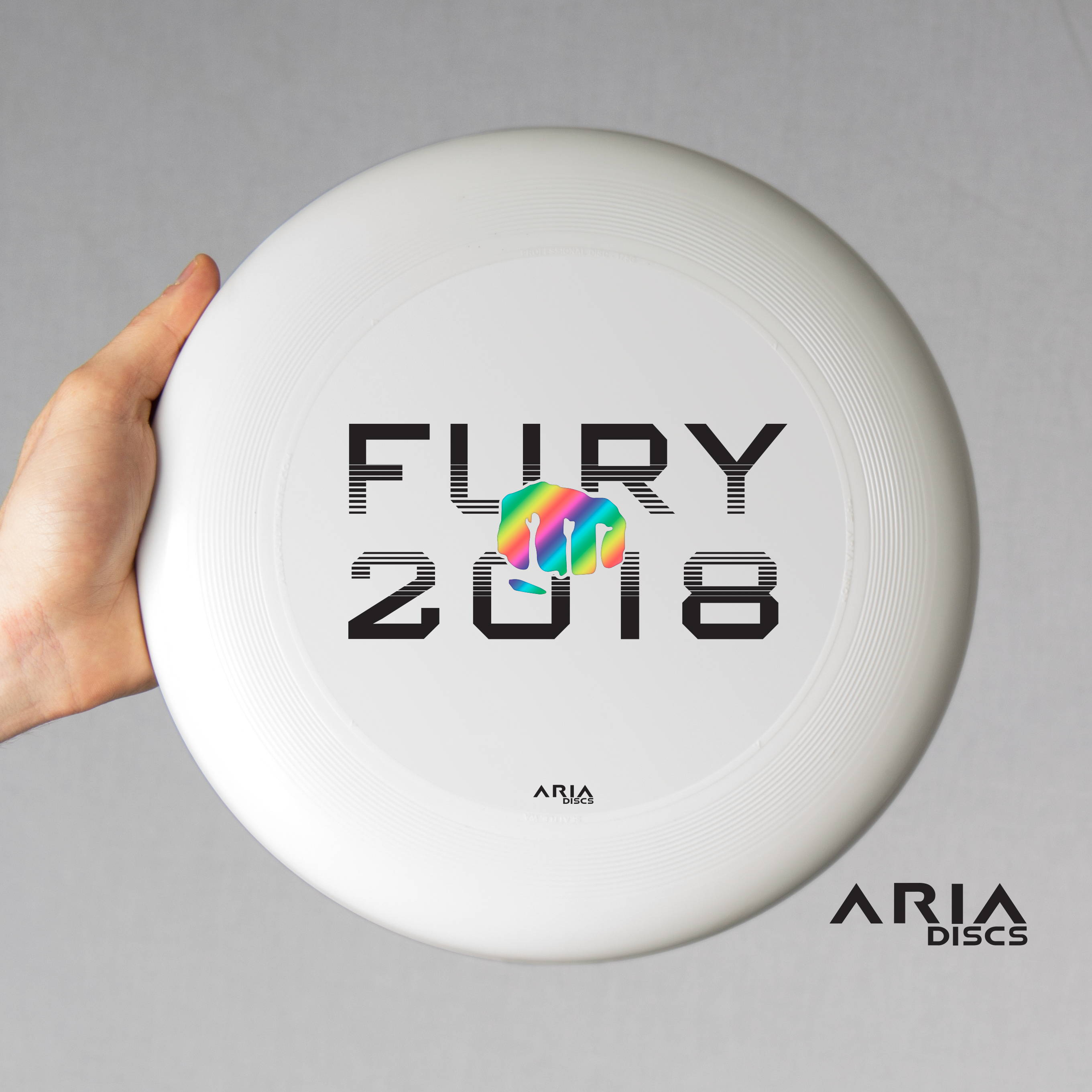 ARIA professional official ultimate flying disc for the sport commonly known as 'ultimate frisbee' san francisco fury national champions disc design