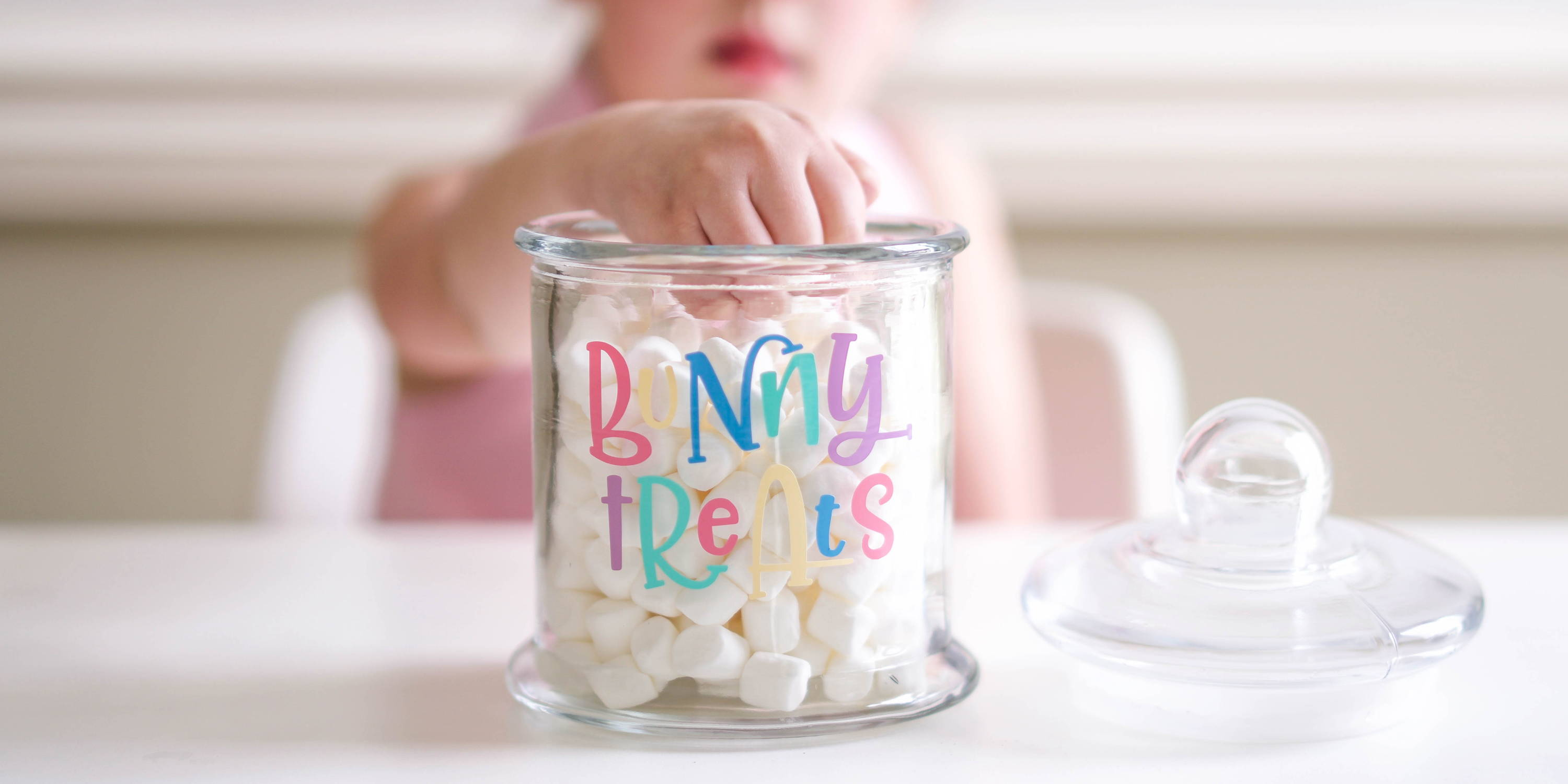 Diy Easter Gift Project Idea How To Apply Adhesive Vinyl On A Glass Candy Jar