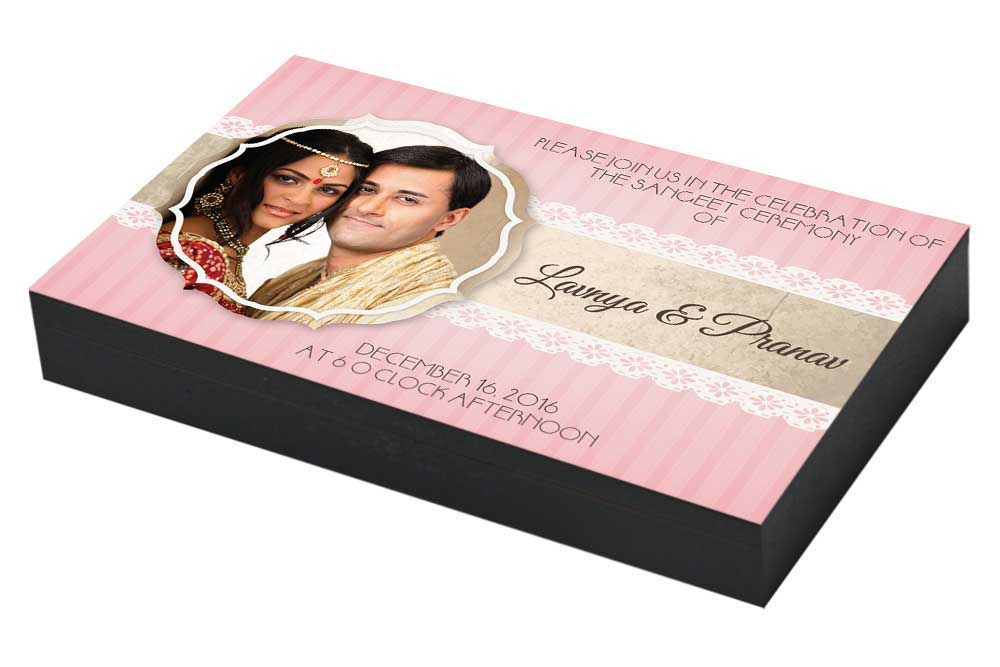 Sangeet ceremony Invitation with Couple photo