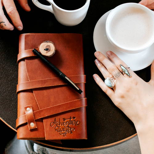 handmade leather wrap journal by portland leather goods