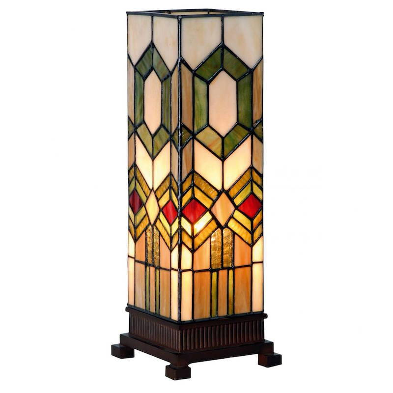 square tiffany style lamps