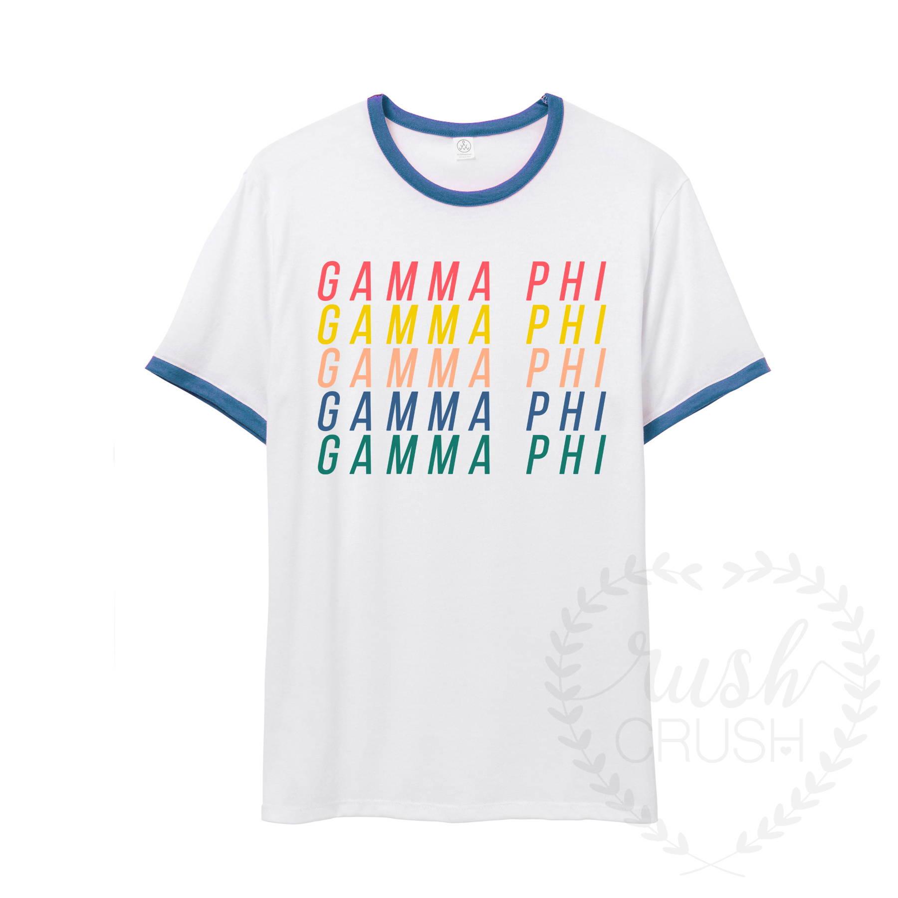 Gamma Phi Rainbow Tee