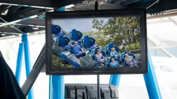 The Display Shield® Outdoor Digital Signage Enclosure Roller Coaster Installation