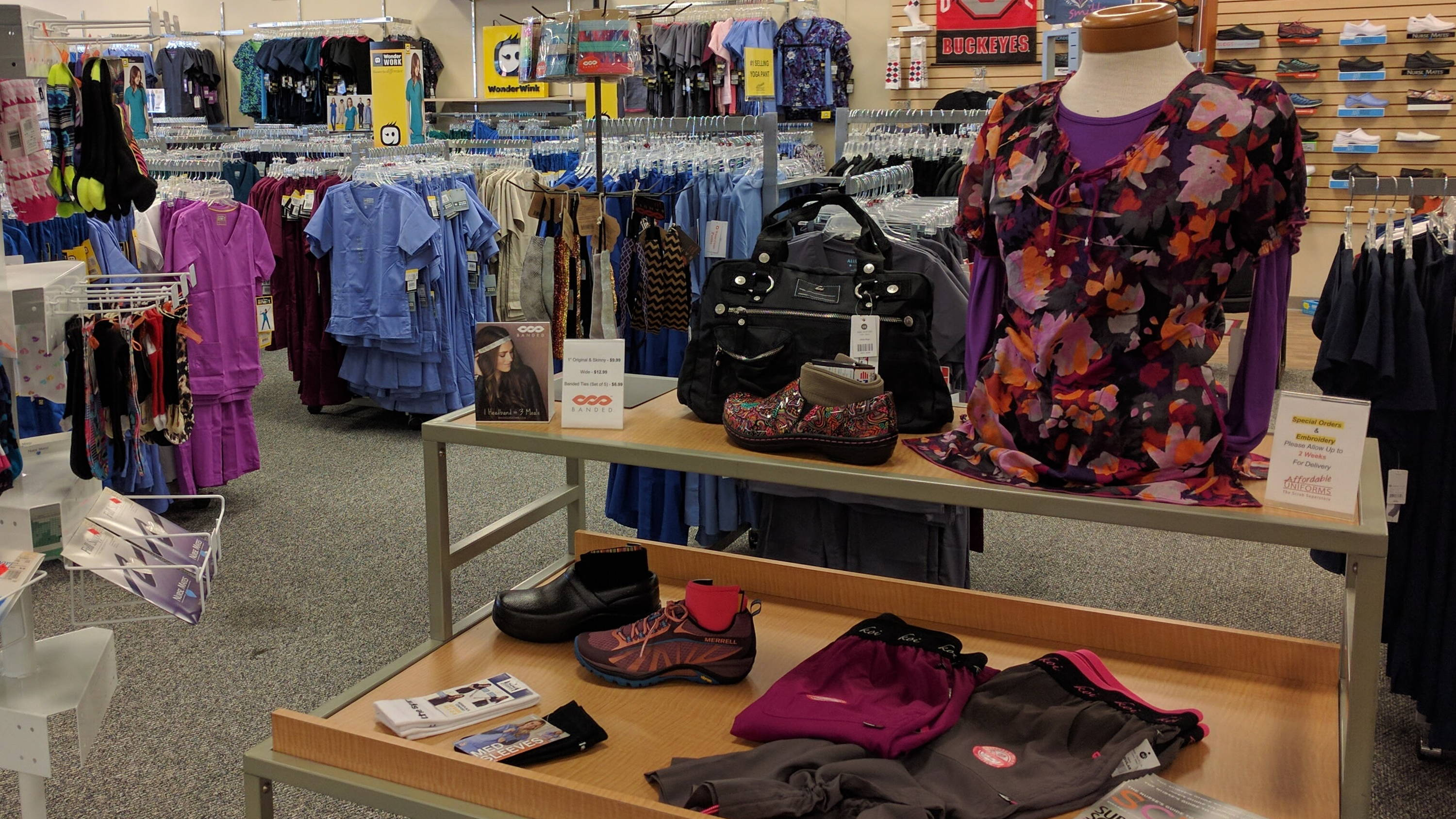 Great scrub displays and promotions at Affordable Uniforms