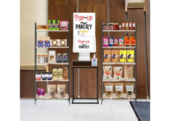 Pantry of grocery and gourmet food makers