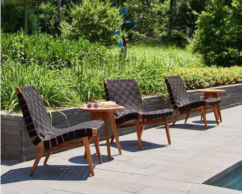 Knoll Risom Outdoor Patio Chairs