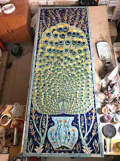 Custom tile mural ready