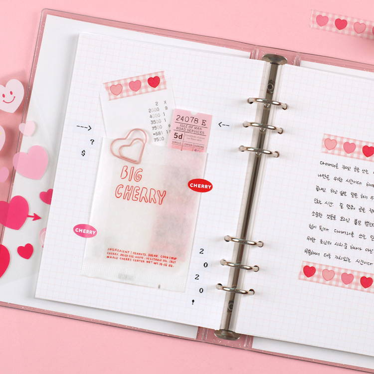Gird note - After The Rain Twinkle pocket 6-ring undated monthly diary
