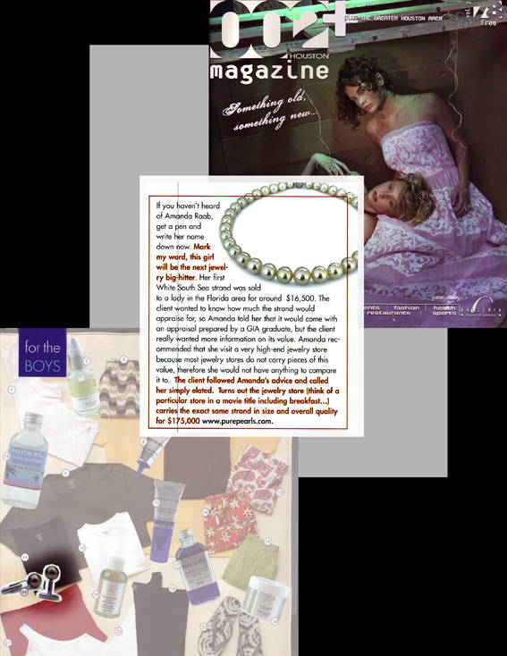 Pure pearls Featured in 002Houston Magazine