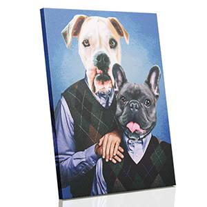 renaissance pet portraits on canvas