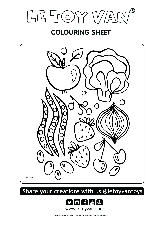 free colouring sheet fruit and veg