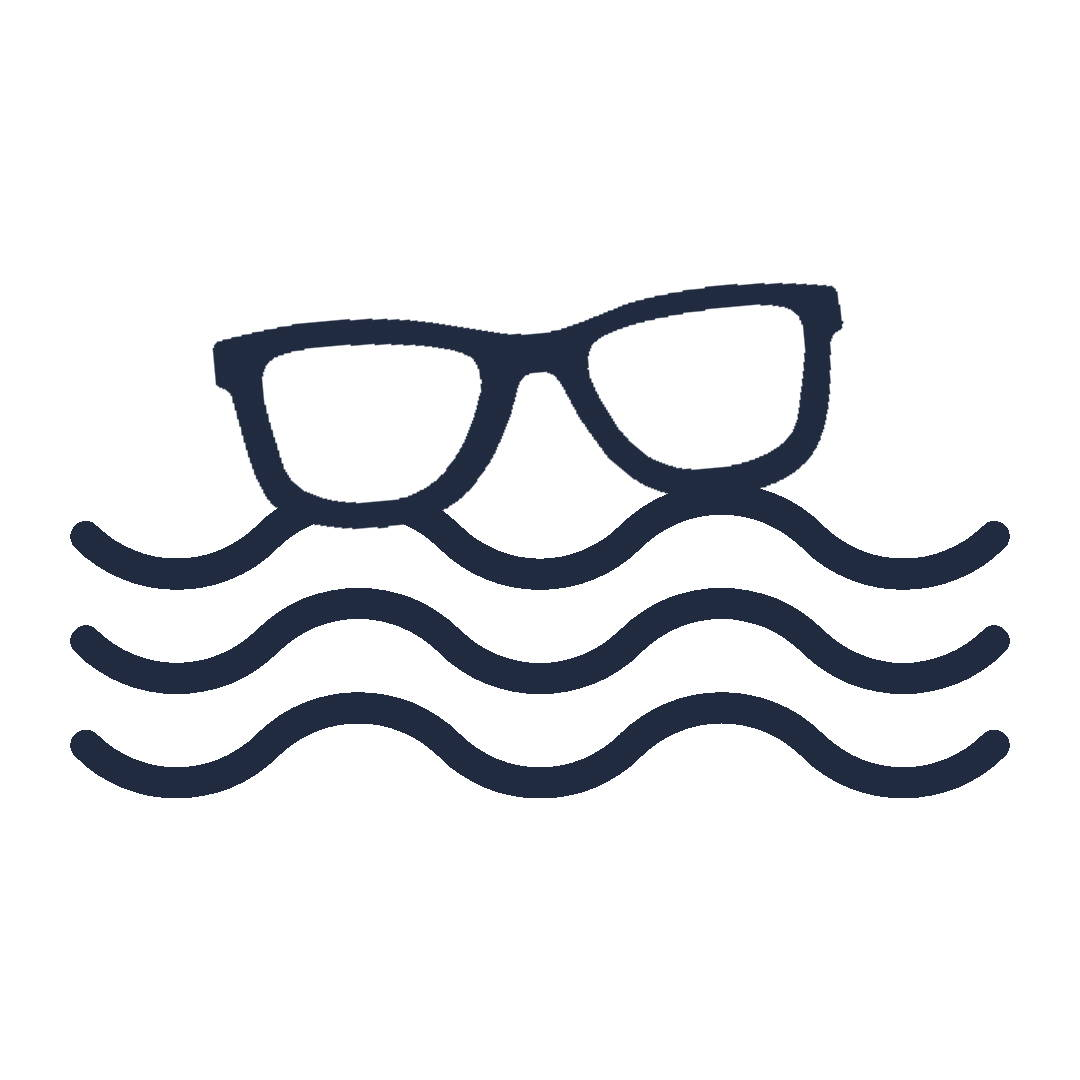 floating sunglasses icon
