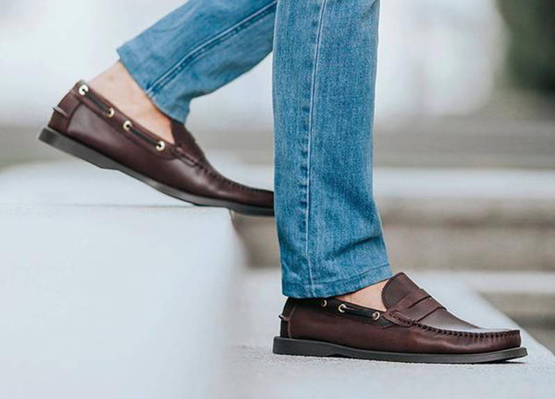 8a0fdb2e4d9 Tomaz C329 Leather Penny Loafers (Wine) - Tomaz Shoes