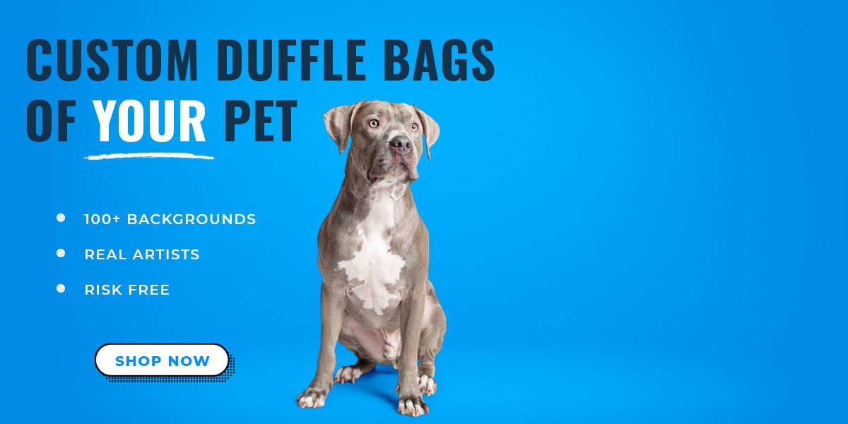 Pitbull duffel bag banner