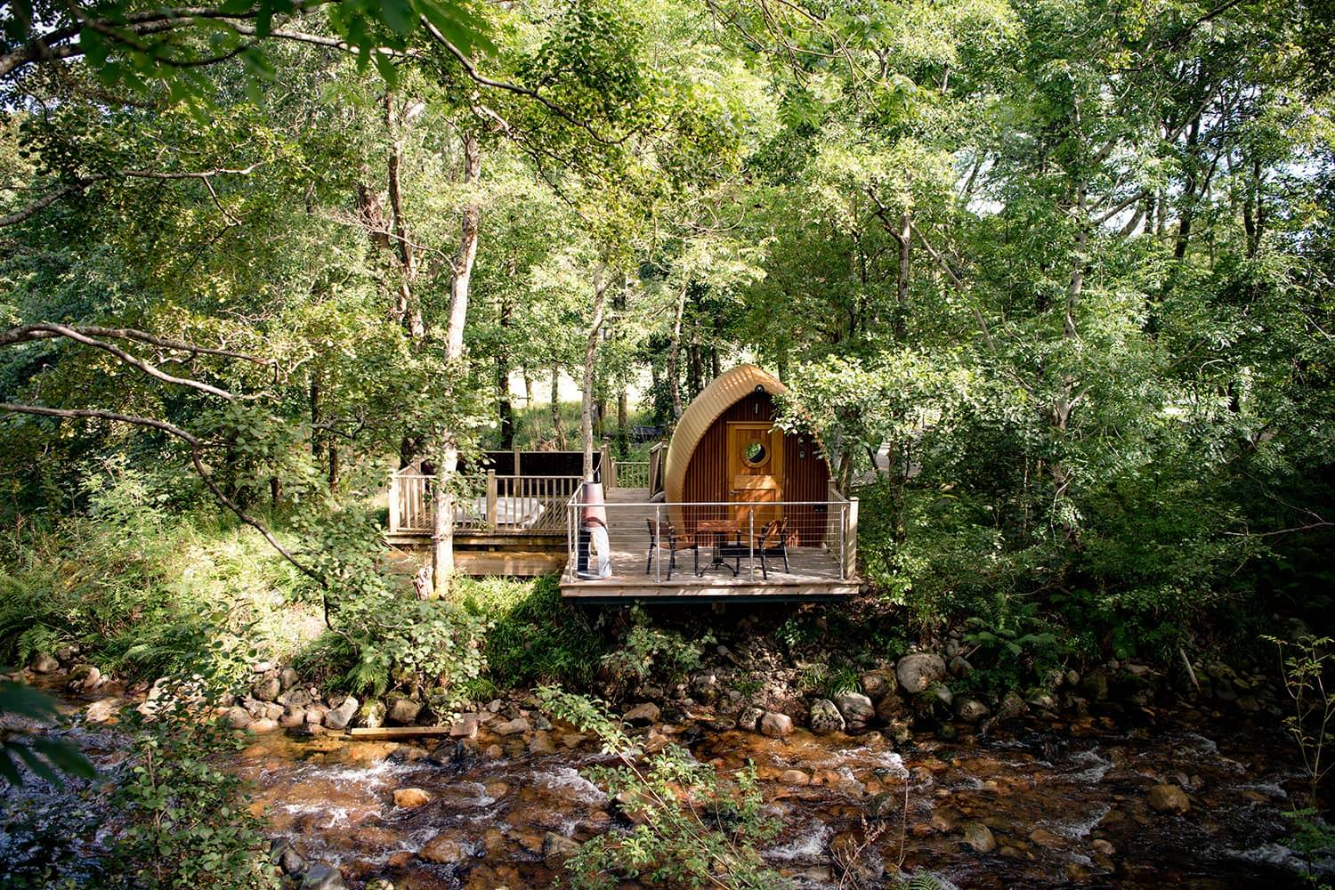 Private Luxury Cabins With Decking