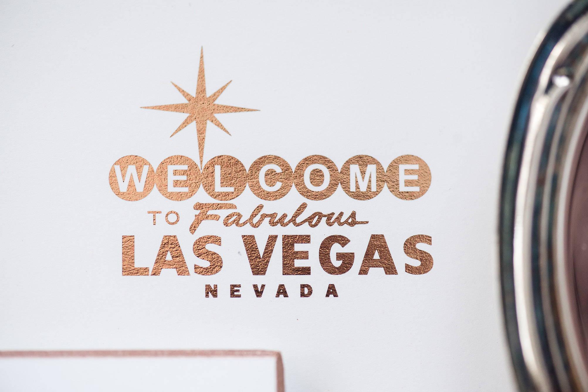 Envelope liner, custom liner, Las Vegas, wedding invitation, rose gold printing, rose gold foil, Nevada wedding invitation, luxury invitation, foil invitation printing, foil envelope liner, custom envelope liner