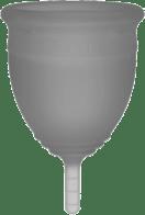 Grey soft menstrual cup.