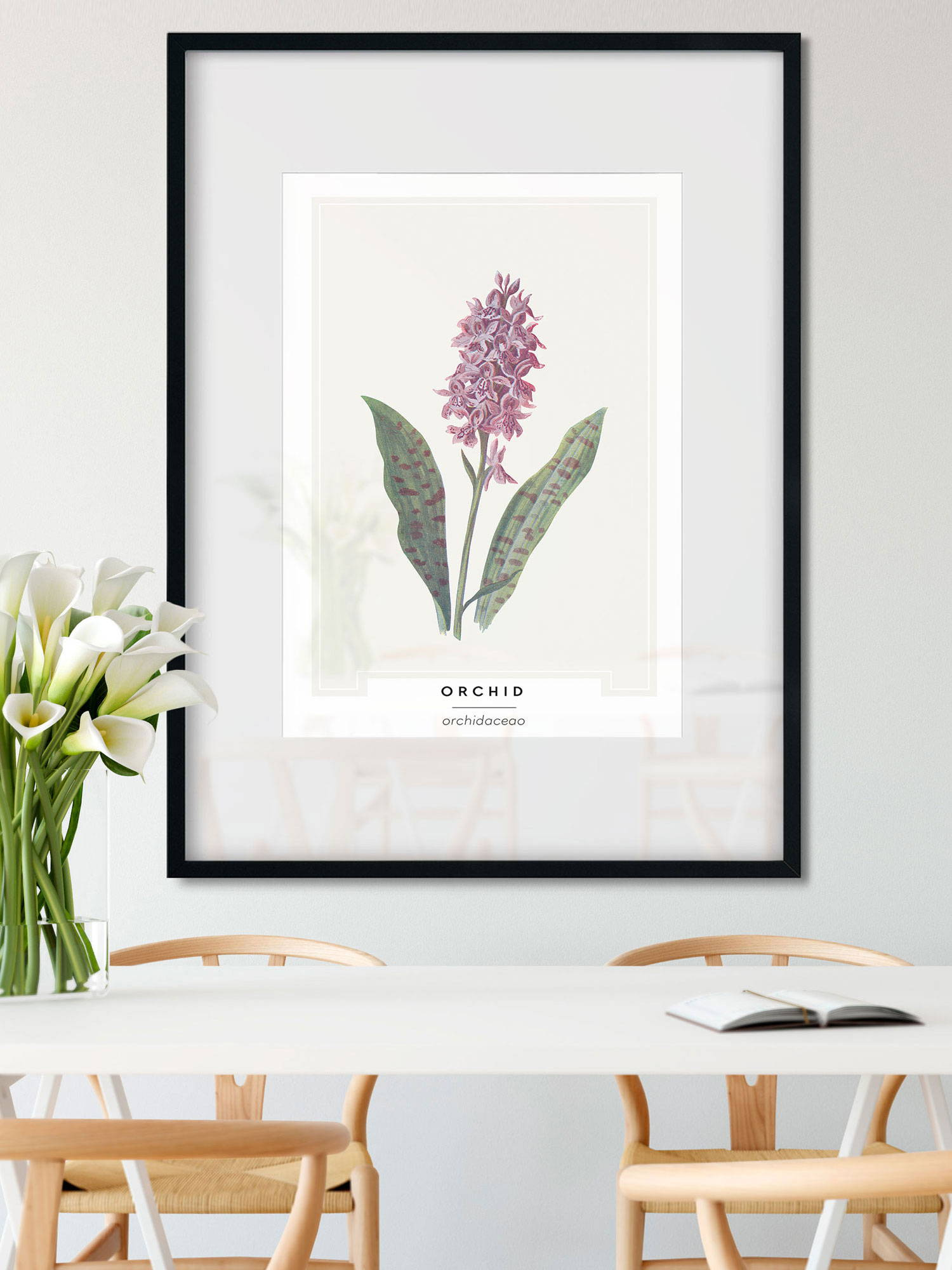 Orchid botanical wall art print