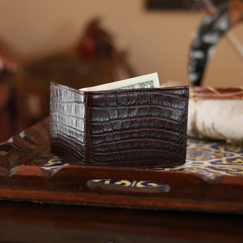 RFID blocking Alligator skin wallet