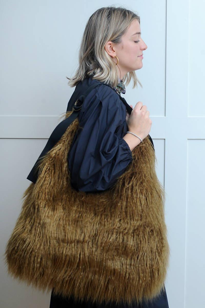 Amy wearing Bellerose Bag