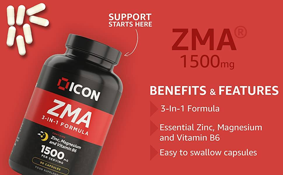 ZMA Tablets Nutritional Health Supplement Providing Benefits