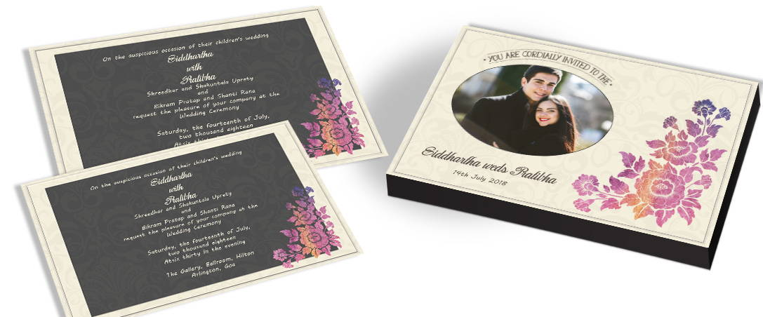 Modern Invitation with Flower Theme