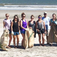 healthy human beach cleanups