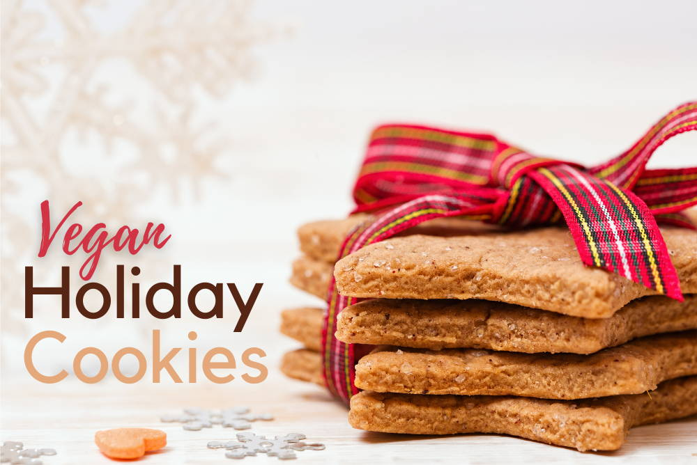 Sunwarrior vegan holiday Christmas cookies from
