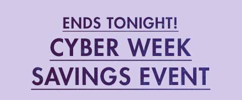 Cyber Week Savings Event