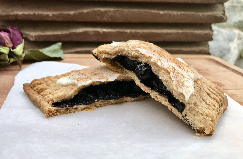 Side view of delicious vegan pop tarts