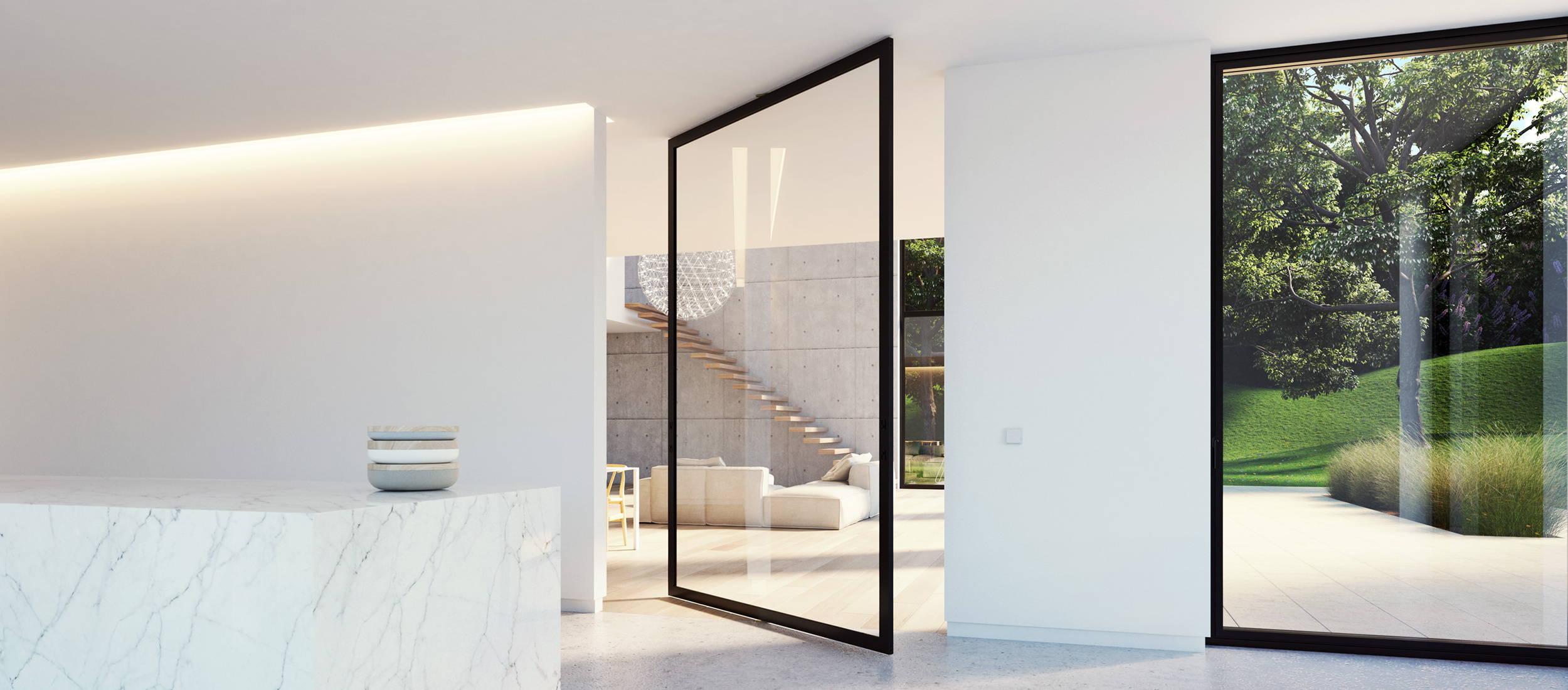 Glass pivot door - Portapivot 6530