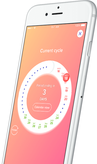 Eve by Glow Period and Sex tracking app for iOS and Android