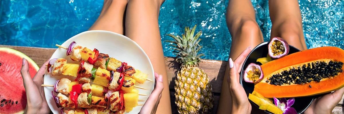 Lebensmittel an heißen Tagen