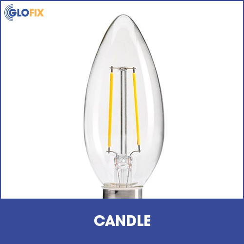 Candle light bulb collection at GloFix