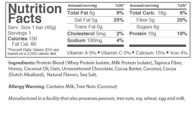 Cookies 'N Cream Nutrition Facts