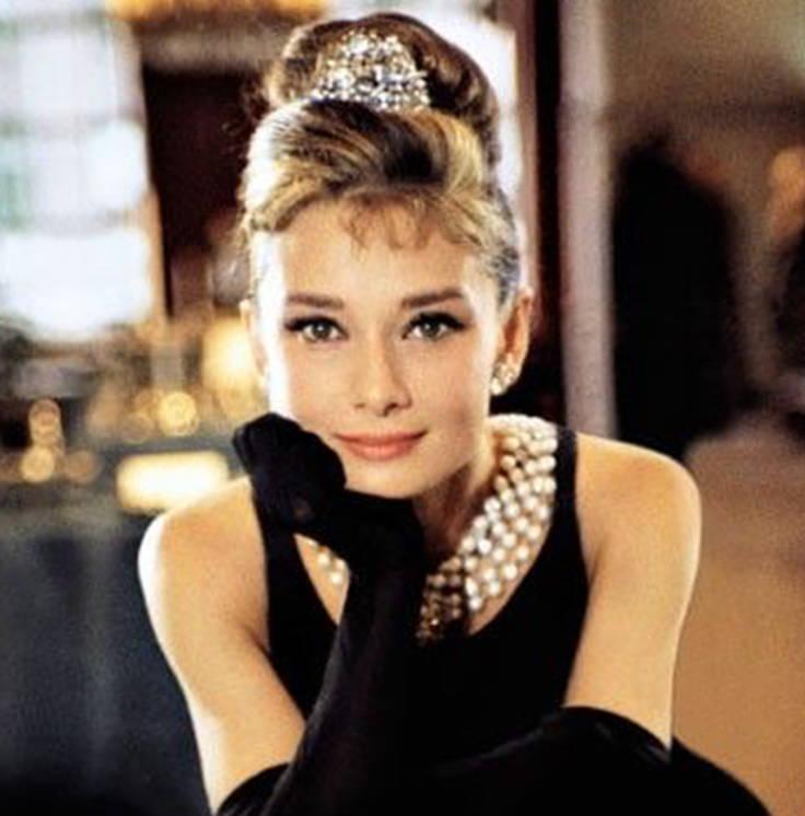 Audrey Hepburn and Pearls