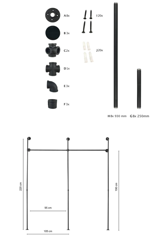 Benötigte Werkzeuge zum Bau der Kleiderstange KIM II