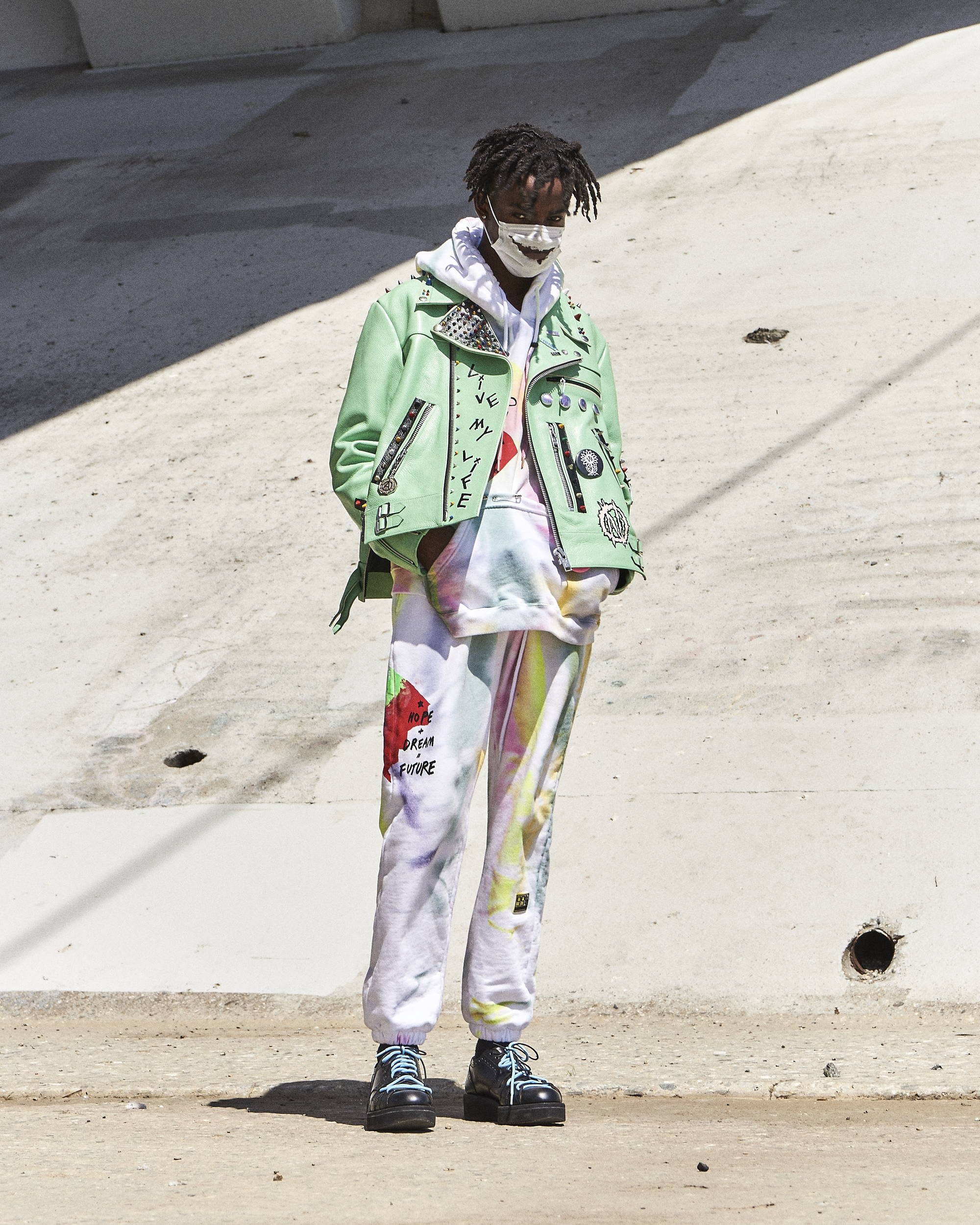 99%IS Green Leather Jacket - HLNR Hlorenzo