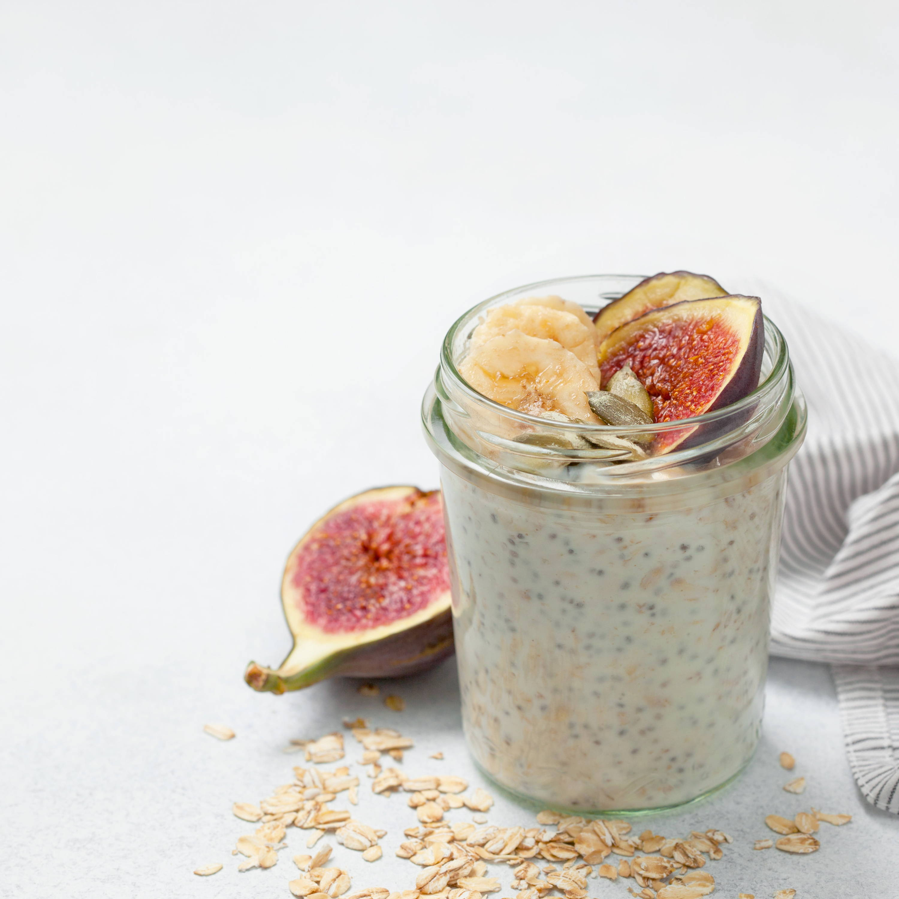 Chia and fig pudding
