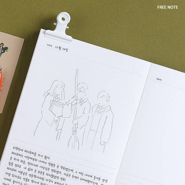 Free note - Wanna This Omnibus dateless weekly diary planner