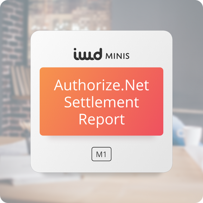 Authorize.Net Settlement Report for Magento 1