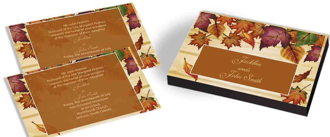 Leafy Background Wedding Invitations