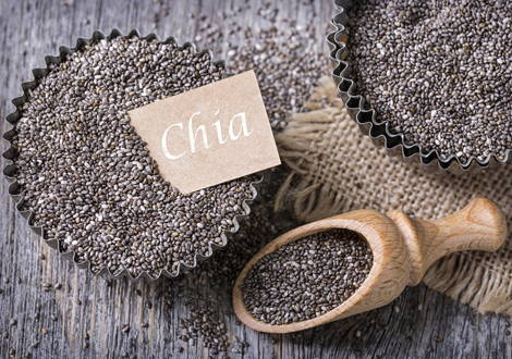 Les graines de chia sont riches en oméga 3
