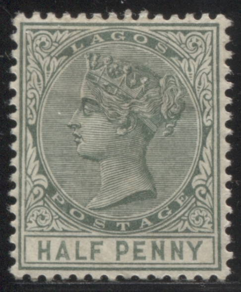 The 1/2d green Queen Victoria stamp of Lagos