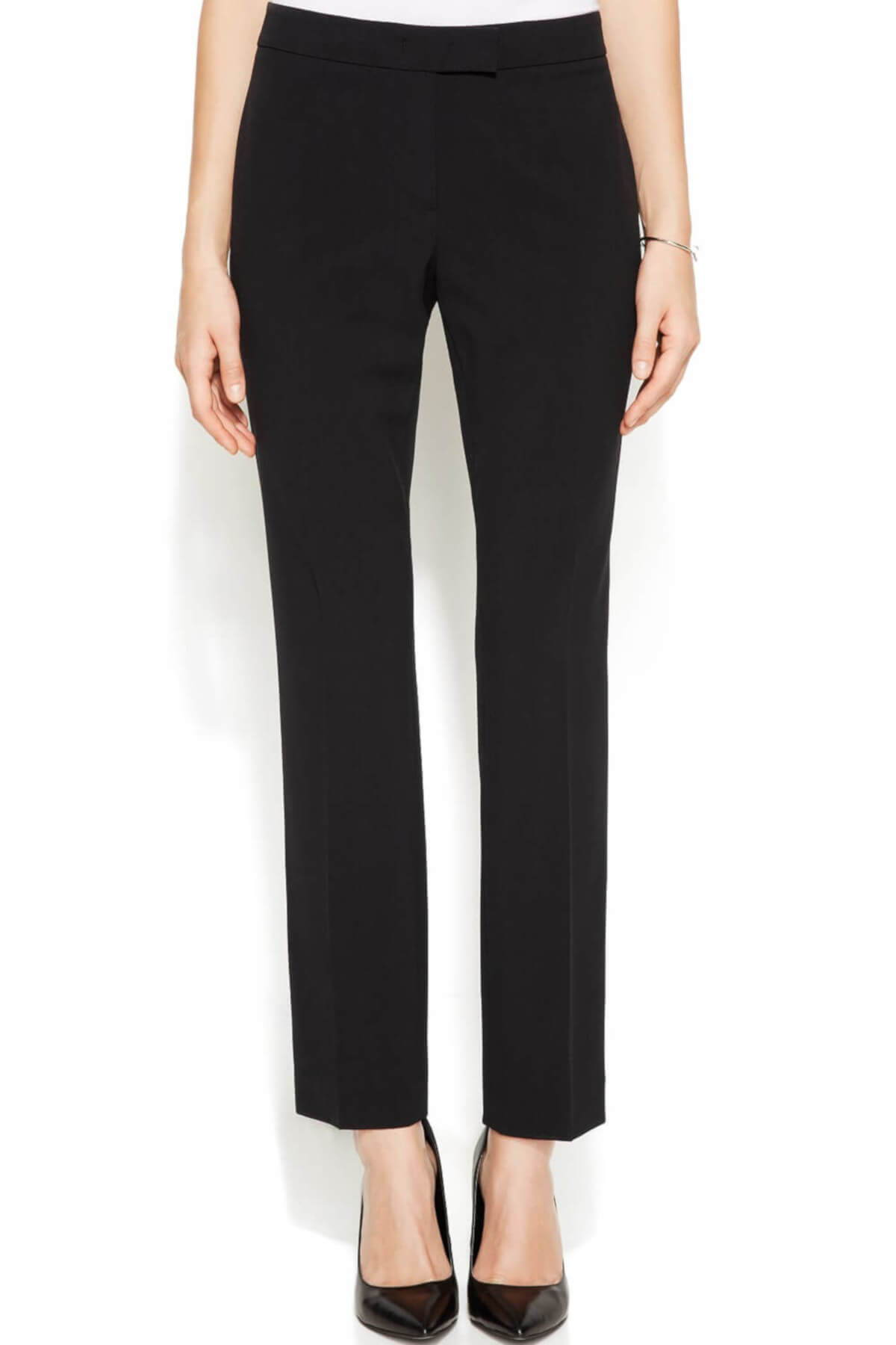 Black Antonio Melani Tallulah Wool Straight Pants Slacks Business Casual Work Attire for Women