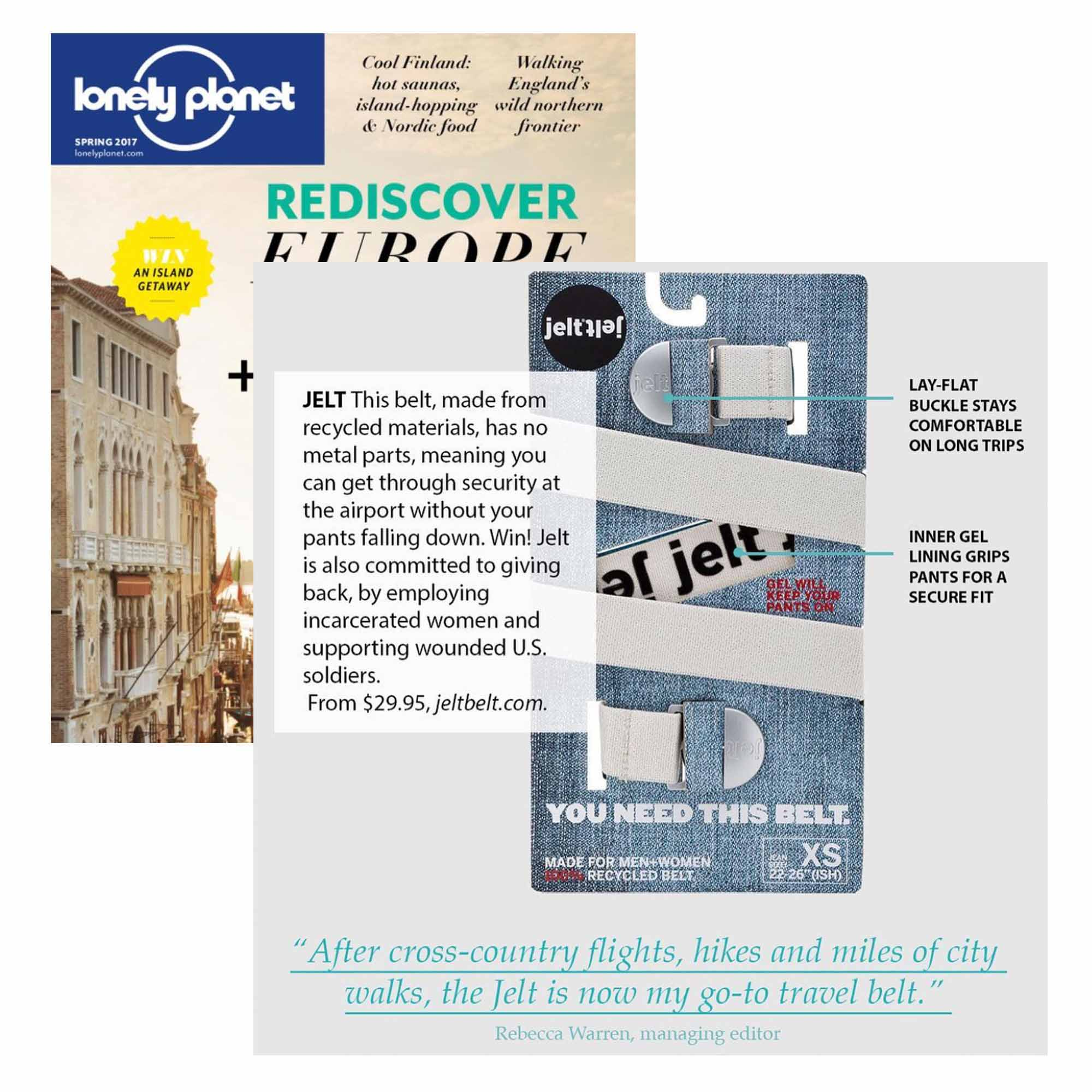 Jelt featured in Spring 2017 Issue of Lonely Planet