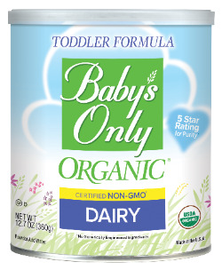 Can of Baby's Only Organic® formula