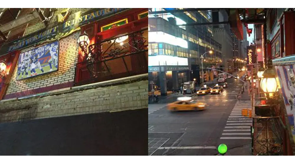 Weatherproof TV screen protection for TV and digital signage with advertising at Times Square